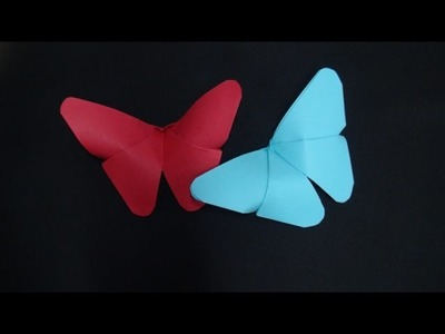 CONSTRUCTION PAPER BUTTERFLY - ORIGAMI
