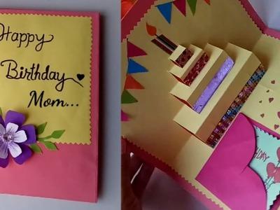 DIY cake pop up card for birthday DIY Birthday Day Card