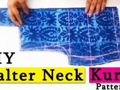 DIY Halter Neck Kurti Cutting ( Step by Step ) In Easy Way