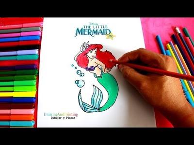 Drawing ARIEL (The Little Mermaid) | Cómo dibujar a Ariel (La pequeña Sirenita)