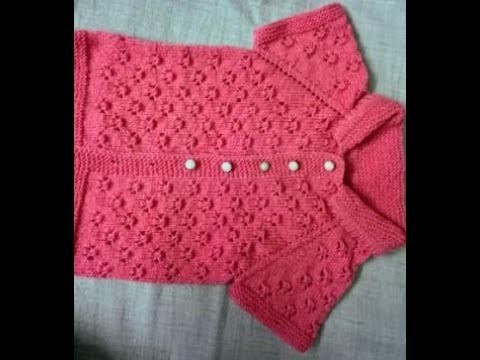 Easy baby sweater with round collar hindi