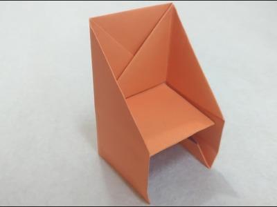 Easy Origami Chair Tutorial 簡單摺紙椅子教學 Silla de papel fácil #简单折紙  折り紙-ダイニング椅子