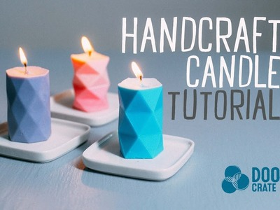 Geometric Candles Tutorial - Doodle Crate Project