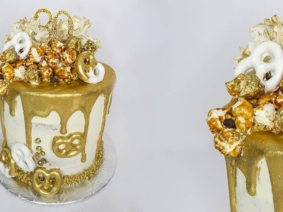 Gold Drip Birthday Cake   Mundheep Makes