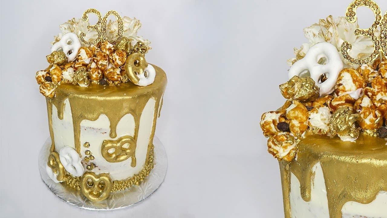 Gold Drip Birthday Cake | Mundheep Makes