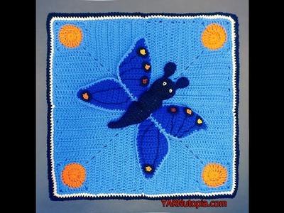 How to Crochet Tutorial: DIY Butterfly Lovey by YARNutopia