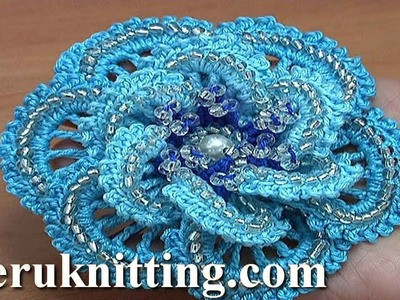 How to Do Crochet Flower Tutorial 180