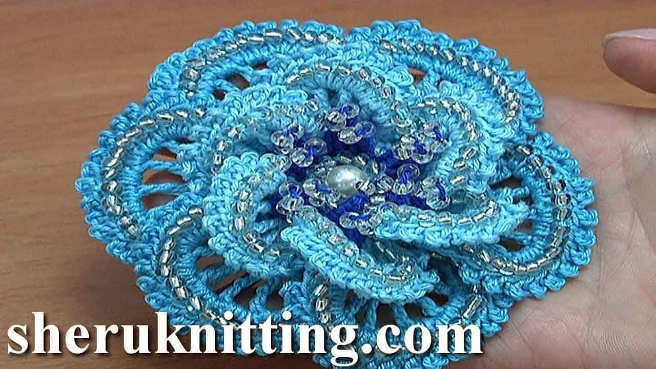 How to Do Crochet Flower Tutorial 180