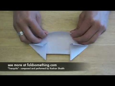 How to fold an origami paper tank