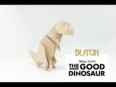 HOW TO FOLD ORIGAMI T-REX 'BUTCH' INSPIRED FROM 'THE GOOD DINOSAUR' [NOT FOR BEGINNER]