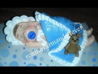 How to make a baby cake topper? made of gum paste by Roxana.