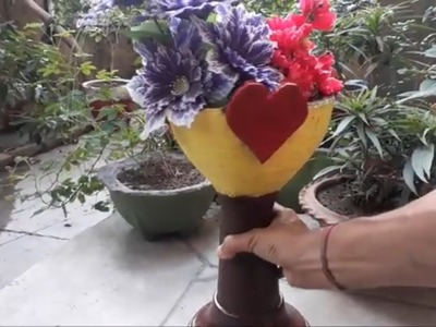 How to make a beautiful cement pot at home easily in very low cost.