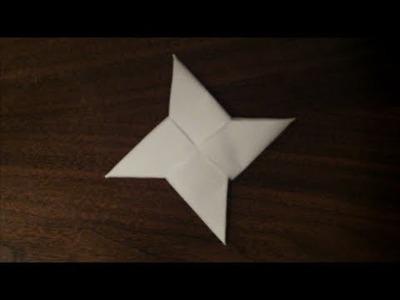 How to Make a Origami Ninja Star