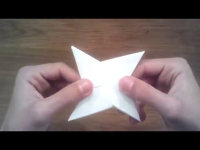 how to make a paper ninja star with 1 paper