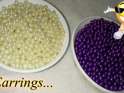 How to Make Awesome Pearl Earrings At Home | Bridal Pearl Earring | Jewellery Making | DiyArtiePie