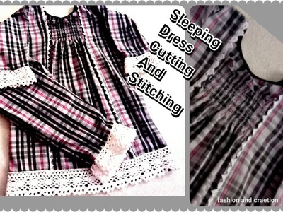 How To Make Baby Sleeping Dress Cutting And Stitching.كيفية جعل ثوب الطفل.ready in a minutes