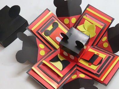 How to make Explosion box. DIY Valentine's Day Explosion Box.Explosion Box Tutorial.Mickey mouse