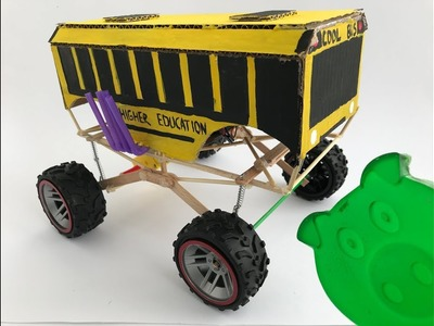 How to make RC huge school bus monster truck HIGHER EDUCATION - Abettor piggy Timosha