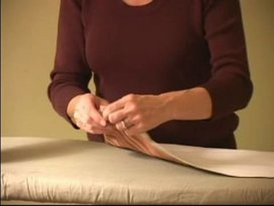 How to Sew Curtains : How To Press Lining To Valance Fabric
