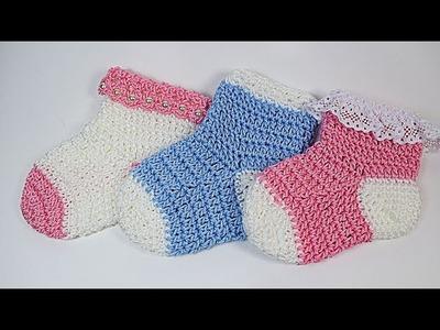 How yo make Crochet baby socks ????