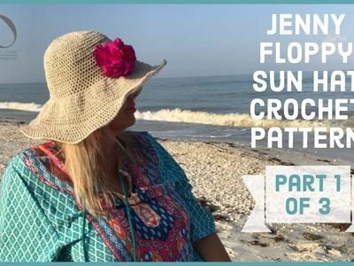 Jenny Floppy Sun Hat Crochet Pattern Part 1 of 3