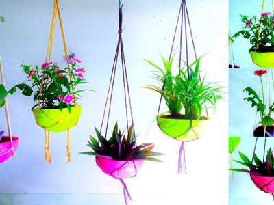 Kids Ball Hanging Planter With Hanging Holder | Garden & Planter Ideas.GREEN PLANTS