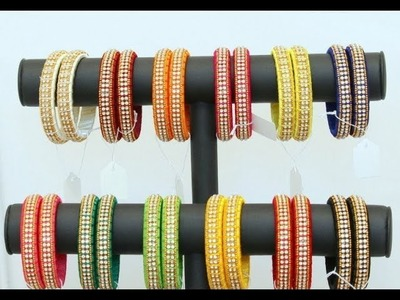 KIDS DESIGNER SILK THREAD BANGLES.