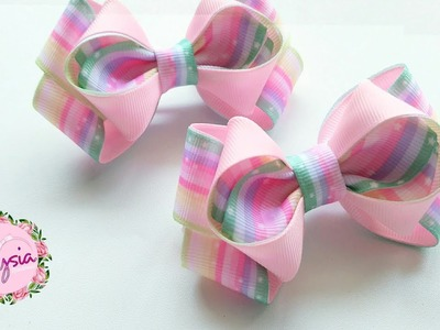 Laço Indria ???? Ribbon Bow Tutorial ???? DIY by Elysia Handmade