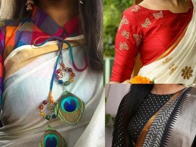 Latest Designer Blouse Designs for saree designer saree Blouse patterns and neck designs 2018