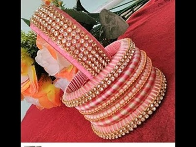 LOT OF BANGLES COLLECTION SILK THREAD.