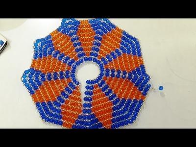 Make diamond shape two colour pearl dress with no fabric for bal gopal. ladoo gopal
