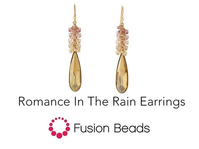 Make the Romance in the Rain Earrings with Swarovski Crystals by Fusion Beads