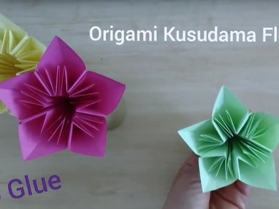 Flower origami eight petal flower origami eight petal flower no glue origami kusudama flower 5 petalsv2 mightylinksfo