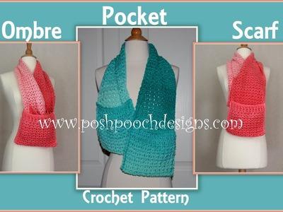 Ombre Pocket Scarf Crochet Pattern