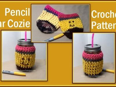 Pencil Jar Cozie Crochet Pattern
