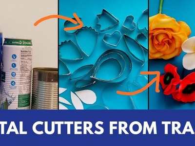 Petal Cutters From Trash for Flower making.Plumeria Flower.DIY Flower Cutters