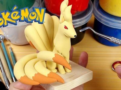 Sculpting Ninetales beautiful Fox Pokémon in Clay step by step