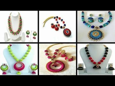 SHALINI 'S LADIES CORNER ::  SILK THREAD NECKLACE & EARRINGS DESIGNS  FOR U