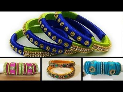 SHALINI'S LADIES CORNER SILK & SILK DESIGNER THREAD BANGLES  DESIGNS  FOR U