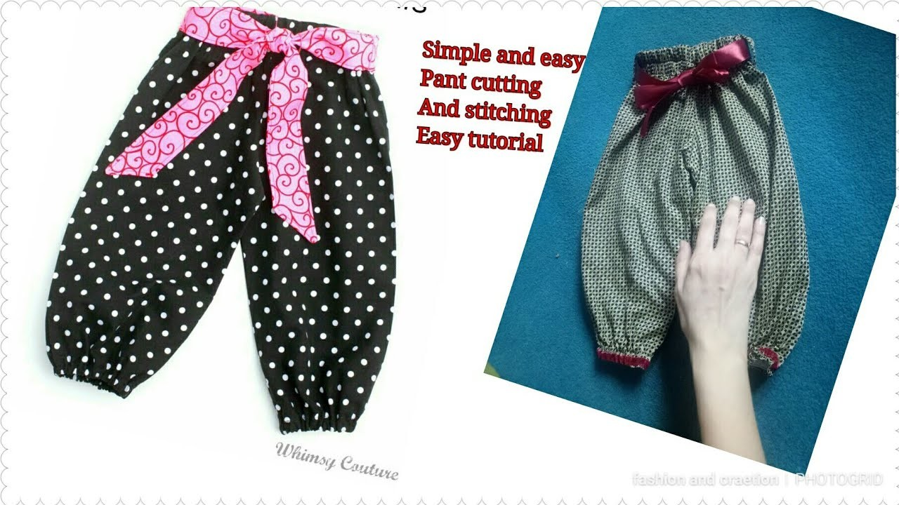 Simple and cute baby trouser cutting and stitching tutorial video trouser cutting and stitching