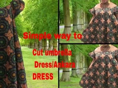 Simple way to cut and sew off shoulder ankara dress. Umbrella frock