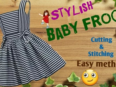 Stylish and new design Baby frock cutting and stitching full tutorial. by simple cutting