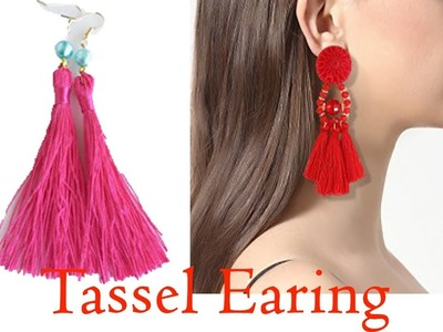 Tassel earrings | How to make silk thread Tassel earrings at home | step by step | jewellery making
