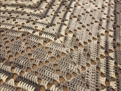 The Lace Diamonds Shawl Crochet Tutorial!