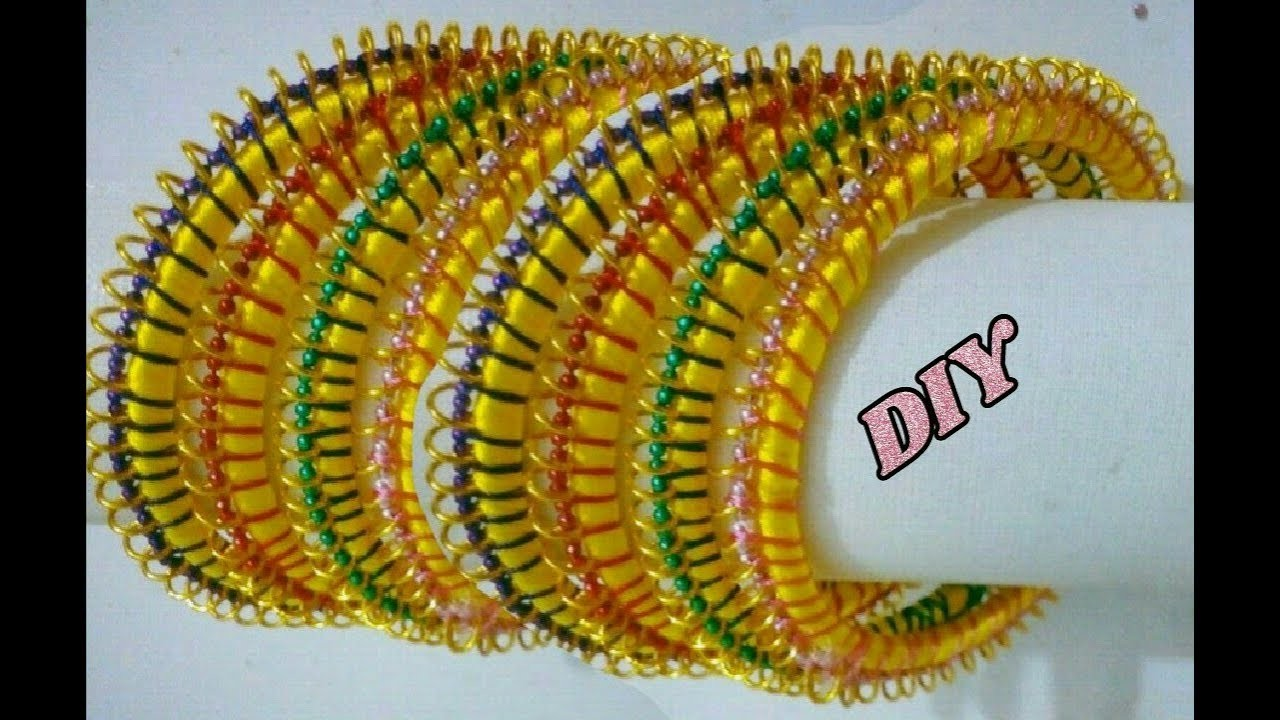 Unique design thin bangles - How to make this bangles | jewellery tutorials