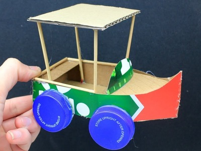 2 Easy Cardboard Boat Car Toys & Canoe | Crafts for Kids #9