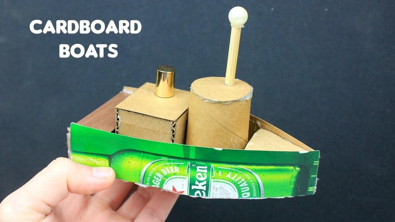 2 Easy Cardboard Boat Toys | Crafts for Kids #8