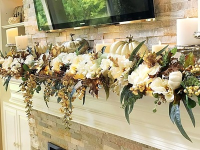 2018 Fall Mantel | How To Decorate A Mantel