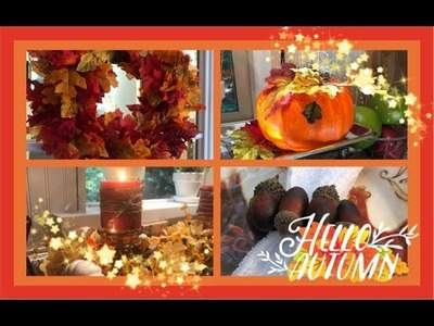 ~4 Fabulous Fall DIY's~ Dollar Tree Autumn Room Decor ~