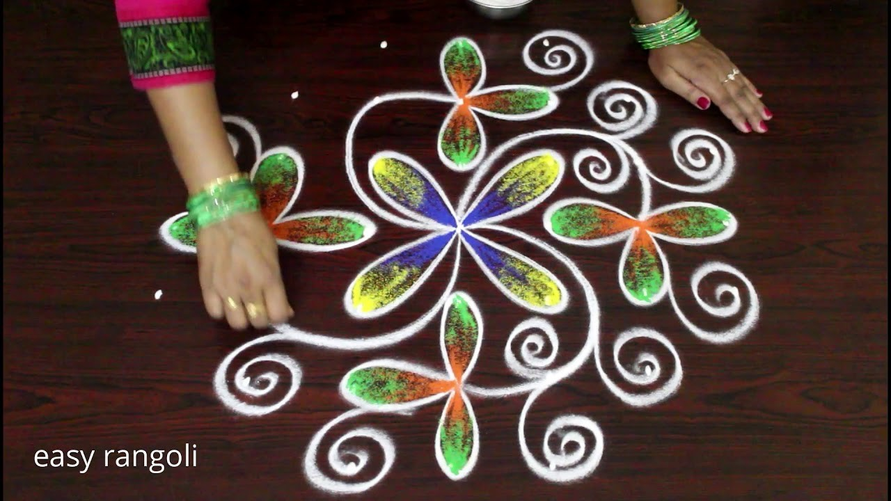 how to draw easy rangoli patterns